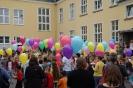Luftballonaktion der 4.Klassen am letzten Schultag 2016
